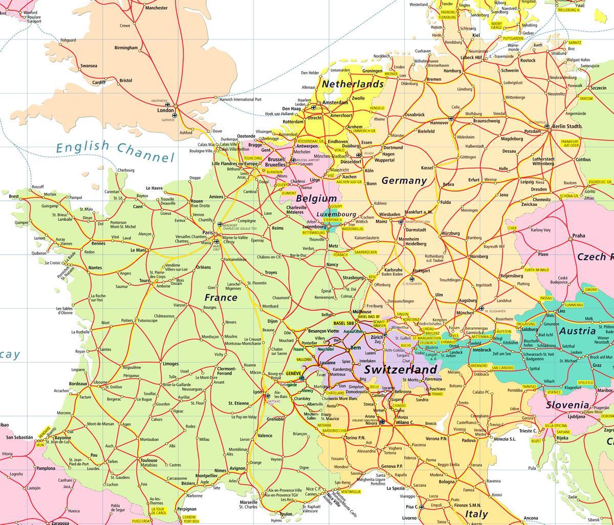 Karta Over Schweiz Och Europa Karta Over Europa Som Visar Schweiz