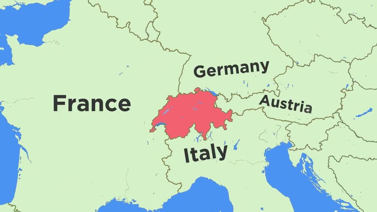 Karta Lander I Europa.Karta Over Schweiz Och Omgivande Lander Karta Over Schweiz Och